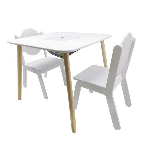 kindertafeltje met 2 stoeltjes tekentafel knutseltafel bouwtafel kinderen set