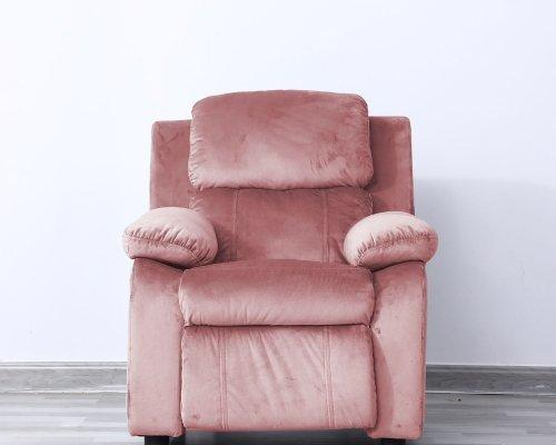 Lounge stoel kinder fauteuil relaxzetel Fiene ergonomisch verstelbaar roze