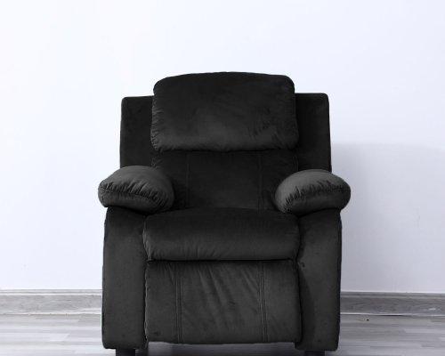 Lounge stoel kinderfauteuil relaxzetel Fiene ergonomisch verstelbaar zwart