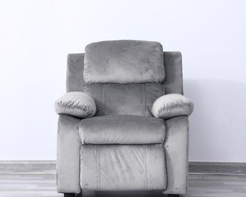 Lounge stoel kinderfauteuil relaxzetel Fiene ergonomisch verstelbaar grijs